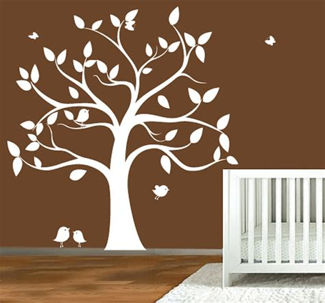 childrens wall decal tree silhouette with by modernwalldecal
