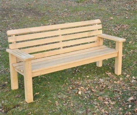 outdoor wooden bench solid mortise and tenon construction in larch and oak