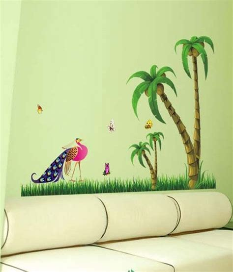 where can i get wall stickers wow interiors and decors peacock cocount tree wall