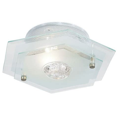 endon hexagon two tiered glass ceiling light fitting