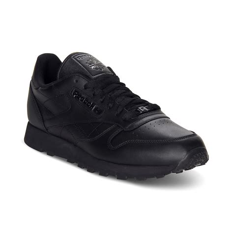 reebok classic leather sneakers reebok s classic leather casual sneakers from finish