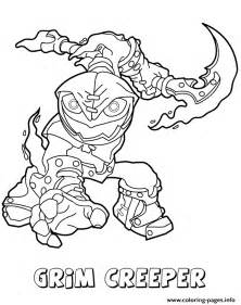 lightcore grim creeper  colouring pages