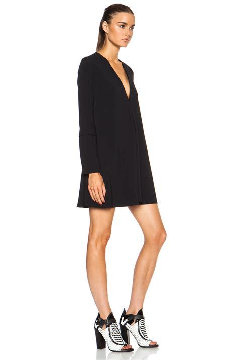 Topshop Acetate Dress by Lyst Proenza Schouler Sleeve Acetate Blend Dress In