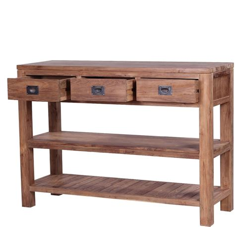 console table with bench the tanjung reclaimed teak wood console table console