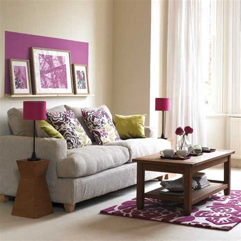 living room with pruple accents living room furniture