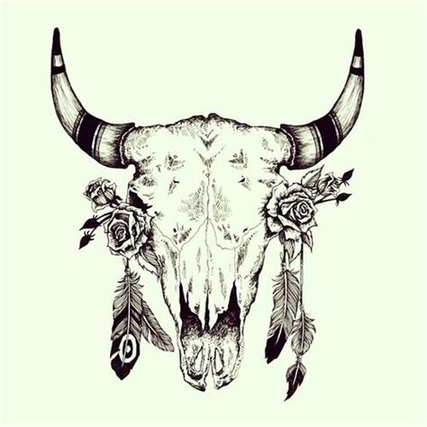 buffalo skull tattoo designs cow skull hair color cow