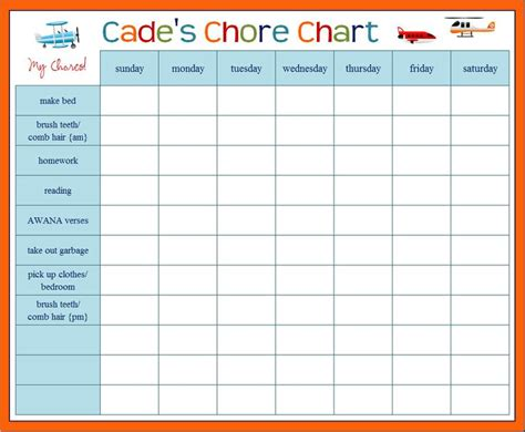 house chore schedule template chore charts for totally cool right but the