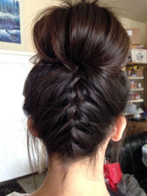 how to do an upside down french braid bun upside down french braid bun beauty pinterest