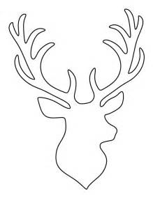 reindeer silhouette template stag pattern use the printable outline for crafts