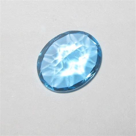 Batu Blue Topaz 4 50 Karat jual batu permata swiss blue topaz asli oval cut 2 82 carat