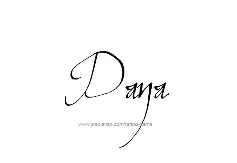 dana tattoo name designs