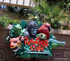 Rainforest Cafe Review Rainforest Cafe A La Disney The Disney Food