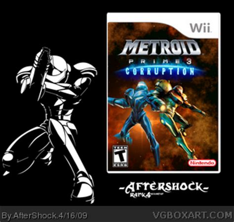 metroid prime 3: corruption wii box art cover by aftershock