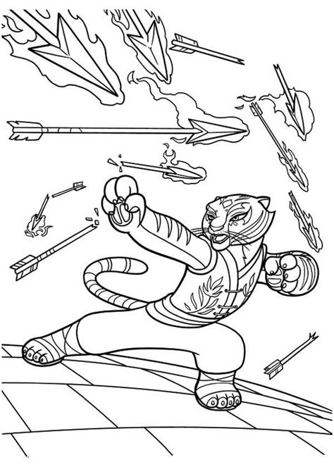 kung fu panda coloring page coloring home kung fu panda tigress coloring pages coloring home
