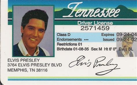 Background Check Drivers License Elvis Tennessee Driver License And 50 Similar Items