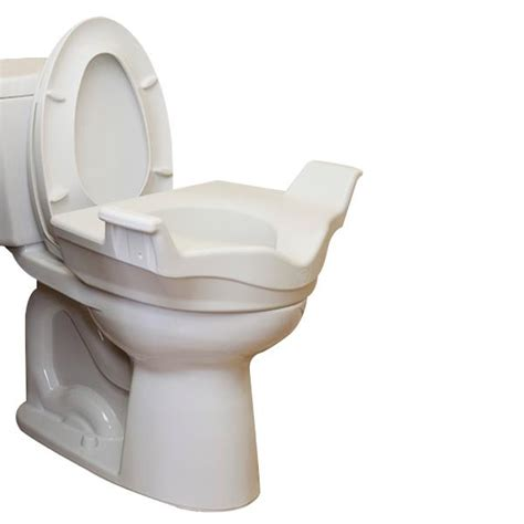 supplies toilet seat handles locking elevated toilet seat with support handles raised