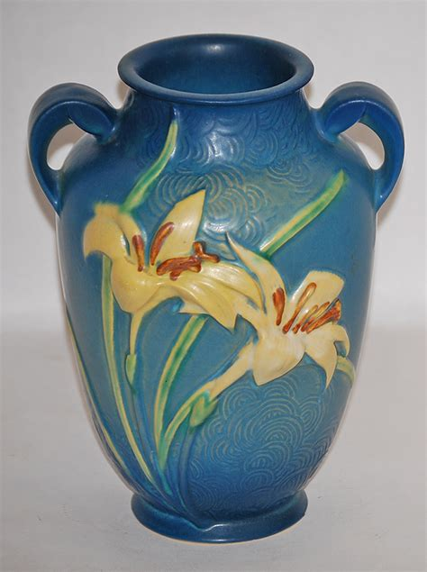 roseville pottery zephyr blue vase 134 8 from just