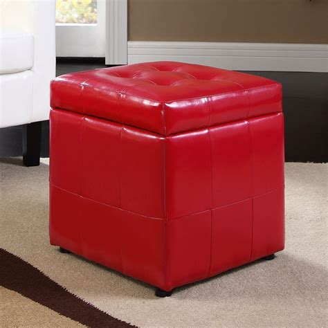square leather ottoman with storage square ottoman with storage leather home ideas