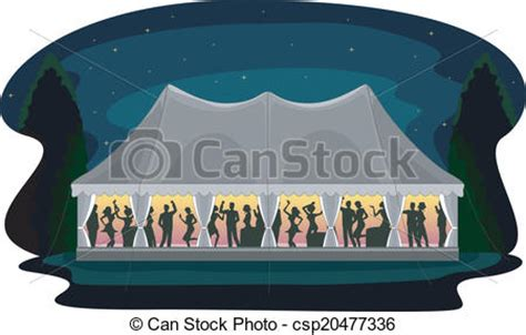 Wedding Tent Clip by Tent Wedding Reception Vector Eps Instant