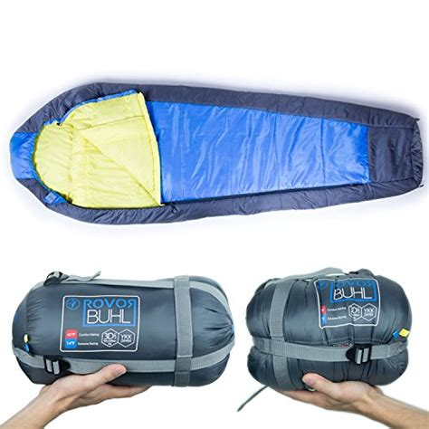 Comfort Rating Sleeping Bag by Rovor Buhl 45 Degree Mummy Backpacking Sleeping Bag With