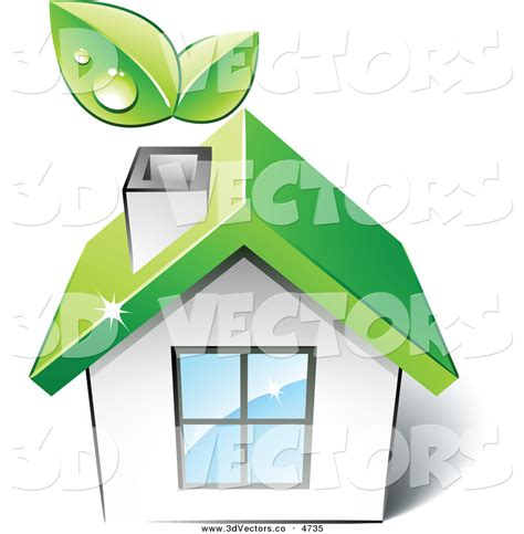 home design 3d logo 3d vector clipart of a pre made logo of a green house with
