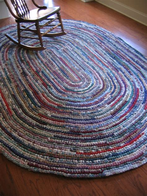 crochet rug patterns with yarn 536 best rag rugs images on locker hooking carpets and embroidery
