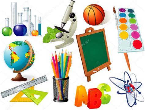imagenes de laminas escolares conjunto de herramientas escolares y universitarios y