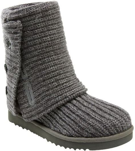 uggs grey knit boots ugg cardy classic knit boot in gray grey lyst