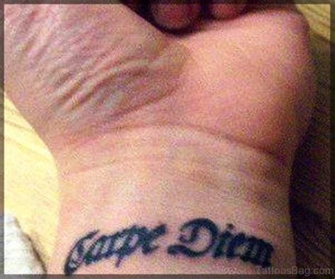 carpe diem wrist tattoo 30 fantastic carpe diem tattoos on wrist
