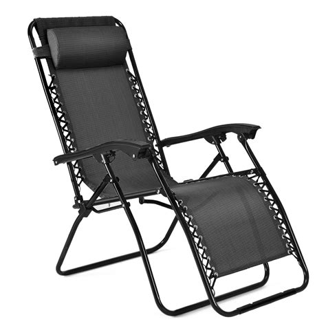 folding recliner lawn chair zero gravity chair outdoor lounge folding reclining