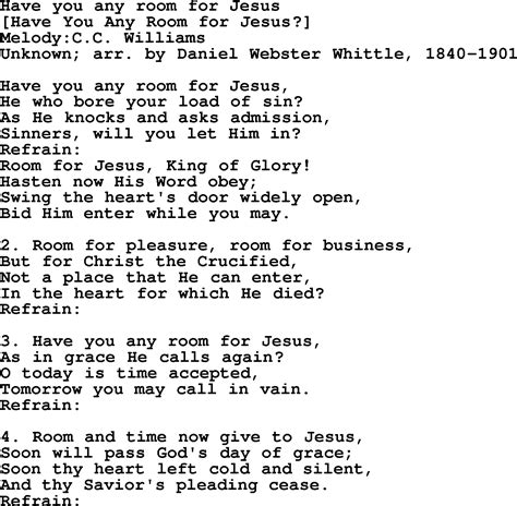 song for jesus american song lyrics for you any room for