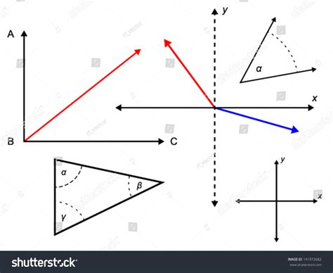 svg pattern coordinate system math geometry coordinate system stock vector 141972682