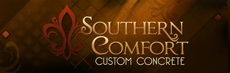 southern comfort font quot southern comfort custom concrete quot logo update on behance