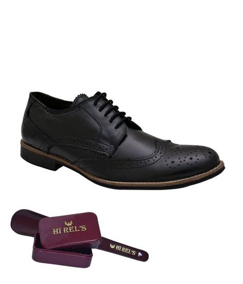 hirel s black derby brogue shoes price in india buy hirel