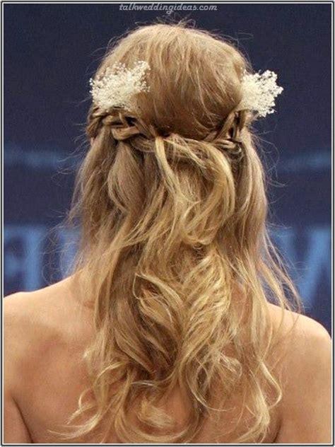hochzeitsfrisuren geflochten mit schleier brautfrisuren halboffen geflochten sch 246 n haare
