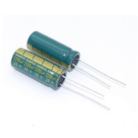 high frequency ac capacitor 105 degrees electrolytic capacitor capacitor 25v 2200uf sanyo lcd sound power high frequency