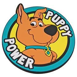 puppy power pvc coaster retro drinks mat desk scooby doo