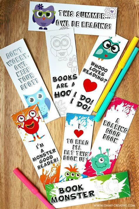 free printable volunteer bookmarks printable bookmark coloring pages for kids coloring