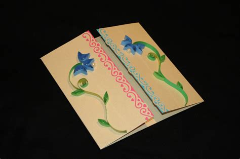Paper Greeting Cards - greeting cards with paper quilling felt