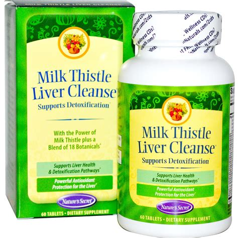 Liver Detox Symptoms Milk Thistle by Nature S Secret Milk Thistle Liver Cleanse 60 Tablets