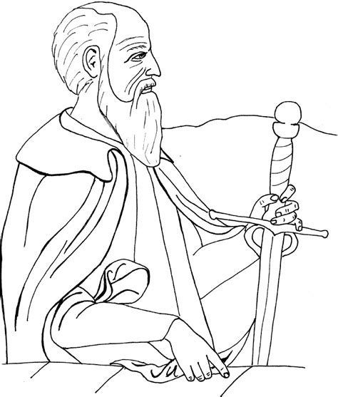paul of tarsus coloring pages images frompo
