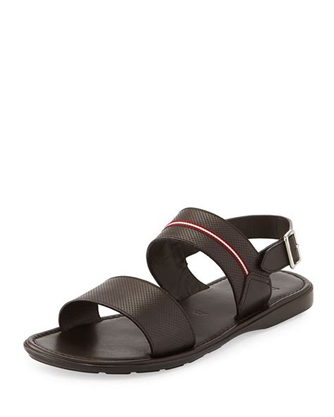 bally sandals bally daiki fisherman strappy leather sandal in brown for