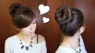 hairstyles jora tutorial everyday perfect bun updo hairstyle for medium long hair