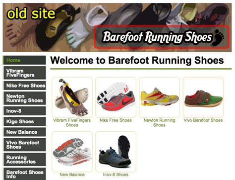 athletic shoes websites new barefoot running shoes website design