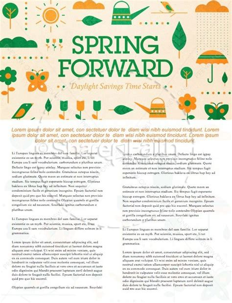 spring forward church newsletter template newsletter