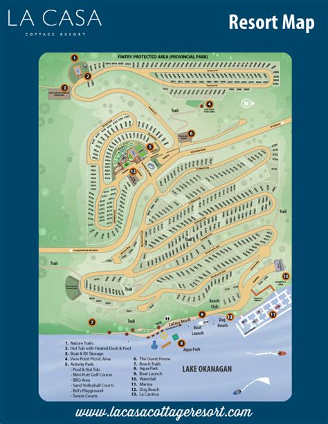 la casa cottage resort site plan la casa cottages