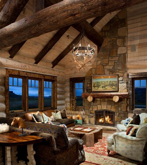 log home interior 21 rustic log cabin interior design ideas style motivation