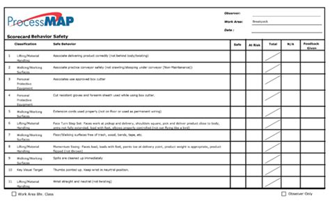 safety observation card template behavior based safety software procesmap bbs software