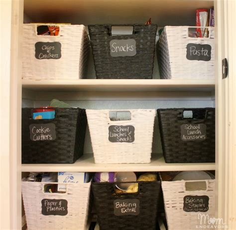 Pantry Organization Baskets by Pantry Organization Makeover