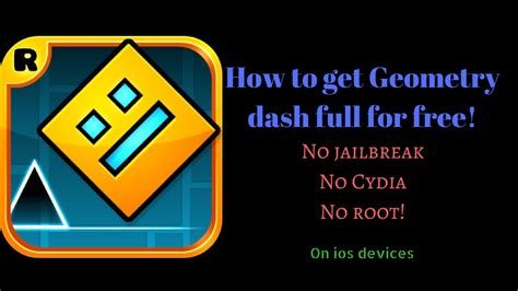 geometry dash full version free apk ios how to get geometry dash full version for free youtube
